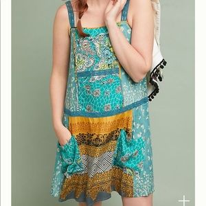 🎉HP🎉 Anthro Tiny Scarf-Printed Tunic Dress